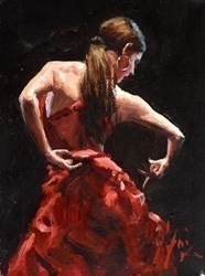 Dancer in Red II by Fabian Perez -  sized 9x12 inches. Available from Whitewall Galleries
